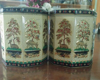 Vintage Peak Frean Cookie Tins-Set of 2