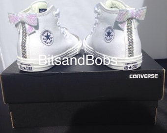 New Customised Crystal Mono Hightop Converse Infant