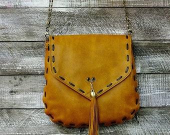 Leather bag women handmade leather bag leather shoulder bag   high quality leather bag