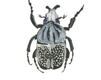 A5 Skeleton Bug print