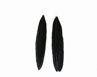 Lot of 2 black feathers