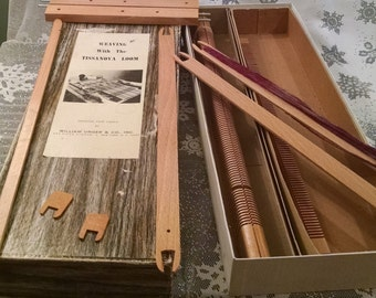 Vintage French Tissanova Weaving loom, in box, 1950s weaving loom, replacement parts, weaving, Tissanova, French loom, wood loom, weave