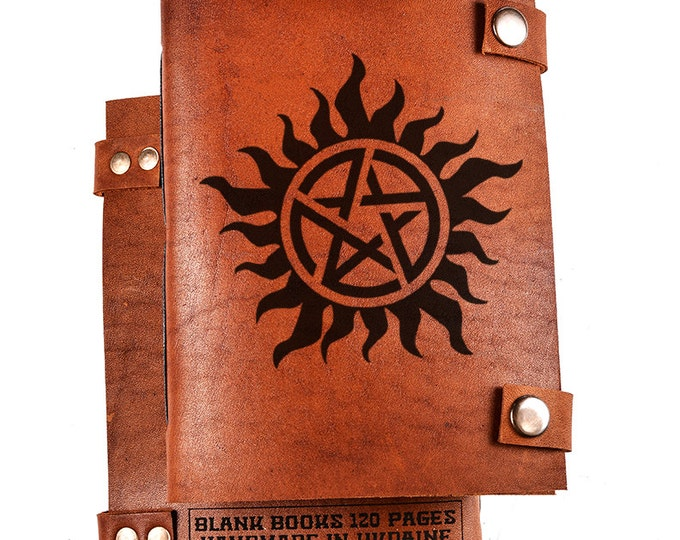 Anti possession notebook - supernatural notebook - anti possession symbol - supernatural journal - anti possesion journal - gift