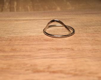 High Peaks Ring - Sterling Silver, Handmade & Hammered