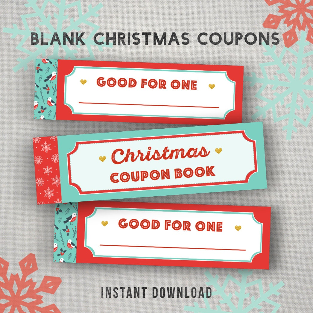 christmas coupons printable gift able blank coupon 🔎zoom