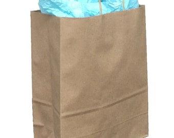 Pack 25 handled Kraft paper bag,10x5x13,Kraft gift bags,Kraft shopping bags with handles,small paper gift bags,brown paper bags