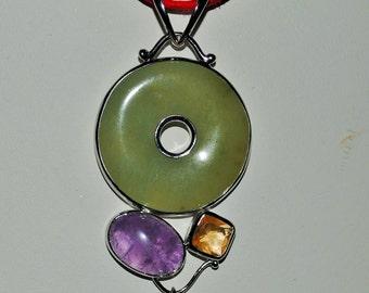 Jade Donut Pendant