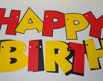 D.I.Y. Mickey Mouse Theme Happy Birthday Banner