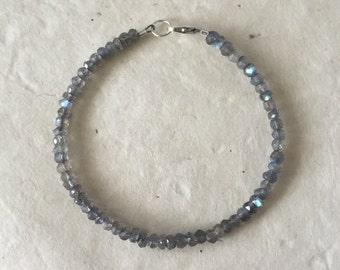 Labradorite Layering Bracelet, Sundance Style, Boho Bracelet, Stacking Bracelet, Birthday Gift, Gifts for Her