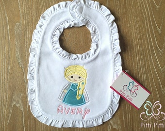 Elsa & Ana Personalized Appliqued Short sleeve Bodysuit Shirt or Bib - Personalized Frozen Shirt Bib or Bodysuit