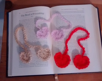 Crochet Heart Book Mark