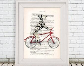 Dalmatian Print, Black and white, dalmatian Artwork,  Panting by Coco de Paris