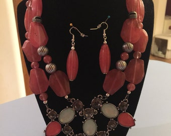 Quartz Statement Necklace Set
