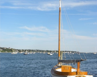 Photograph of Sailboat, 5x7, 8x10 matte, Martha's Vineyard, beach, harbor