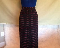 REDUCED PRICE, Limited Time Only!! Apple Skirt - Teacher Skirt - Womens Skirt - Long Skirt - Tea Length Skirt - Black Skirt