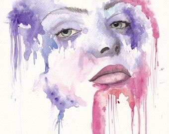 watercolour lady series J 12×18 (Print)