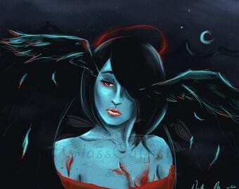 If Tears Took Flight -- 11x17 Art Print