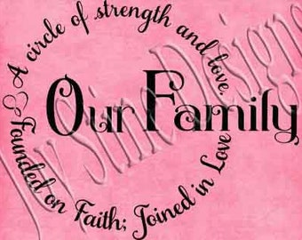 Our Family Love Circle SVG,PNG,JPEG