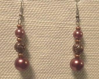 Bronze Pearl Earrings