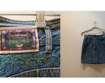 Vintage 90s denim mini skirt