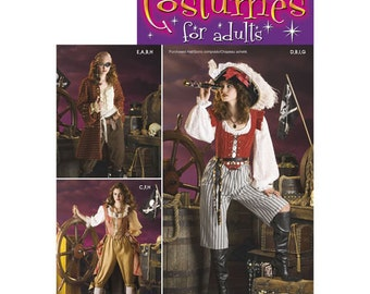 Sewing Pattern for Womens Pirate Costumes, Simplicity Pattern 3677, Halloween Costume, Cosplay Costume,  Pirates Costume