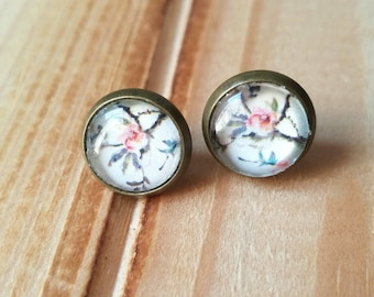 Cherry Blossom Handmade Stud and Dangle Earrings