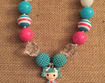 Lalaloopsy Mittens Fluff n Stuff inspired chunky bead necklace