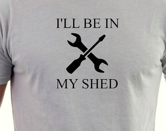 Dads tool shed  printed T-shirt