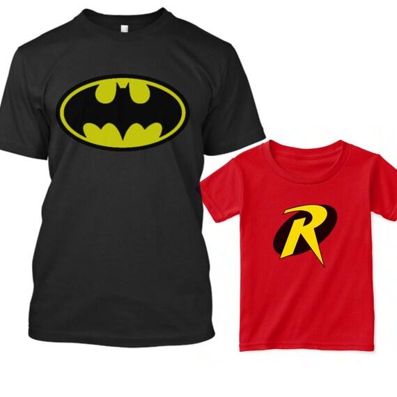 Batman And Robin Shirts Super Hero Birthday Shirt Dad Son Fathers Day