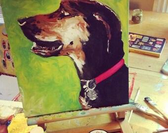 Animal Friend / Pet - portrait painting commission