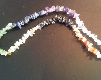 Gemstone Chip nChakra Necklace