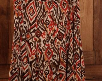 Covington, Warm, Multi-Colored Patterned Skirt