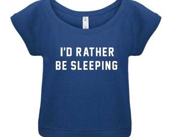 I'D Rather Be Sleeping Crew Neck Sweatshirt Biss Sweatshirt