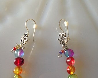 Candy Colored Flower Earrings