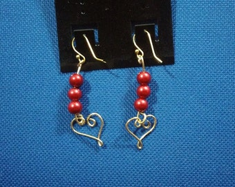 Heart Earrings For Valentines Day