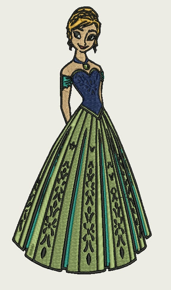 Embroidery Design Disney Anna From Frozen Coronation Dress
