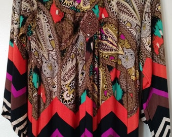 Colorful Paisley Beaded Tunic