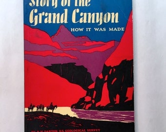 Story of the Grand Canyon, by Fred Harvey 1953, Paperback History Book