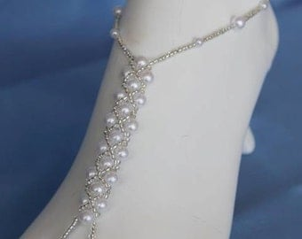Barefoot Sandals Foot Jewelry Pearl Design