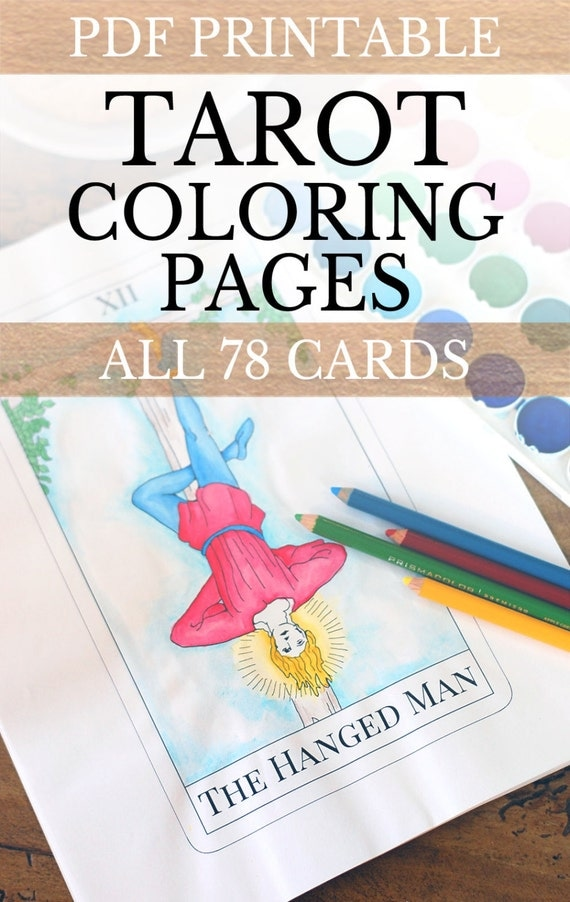 Tarot Deck Adult Coloring Pages All 78 Tarot By