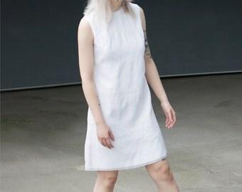 Vintage 70's White Mini Dress
