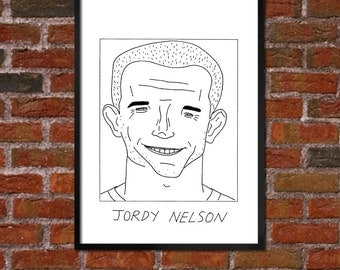 Badly Drawn Jordy Nelson - Green Bay Packersposter / print / artwork / wall art