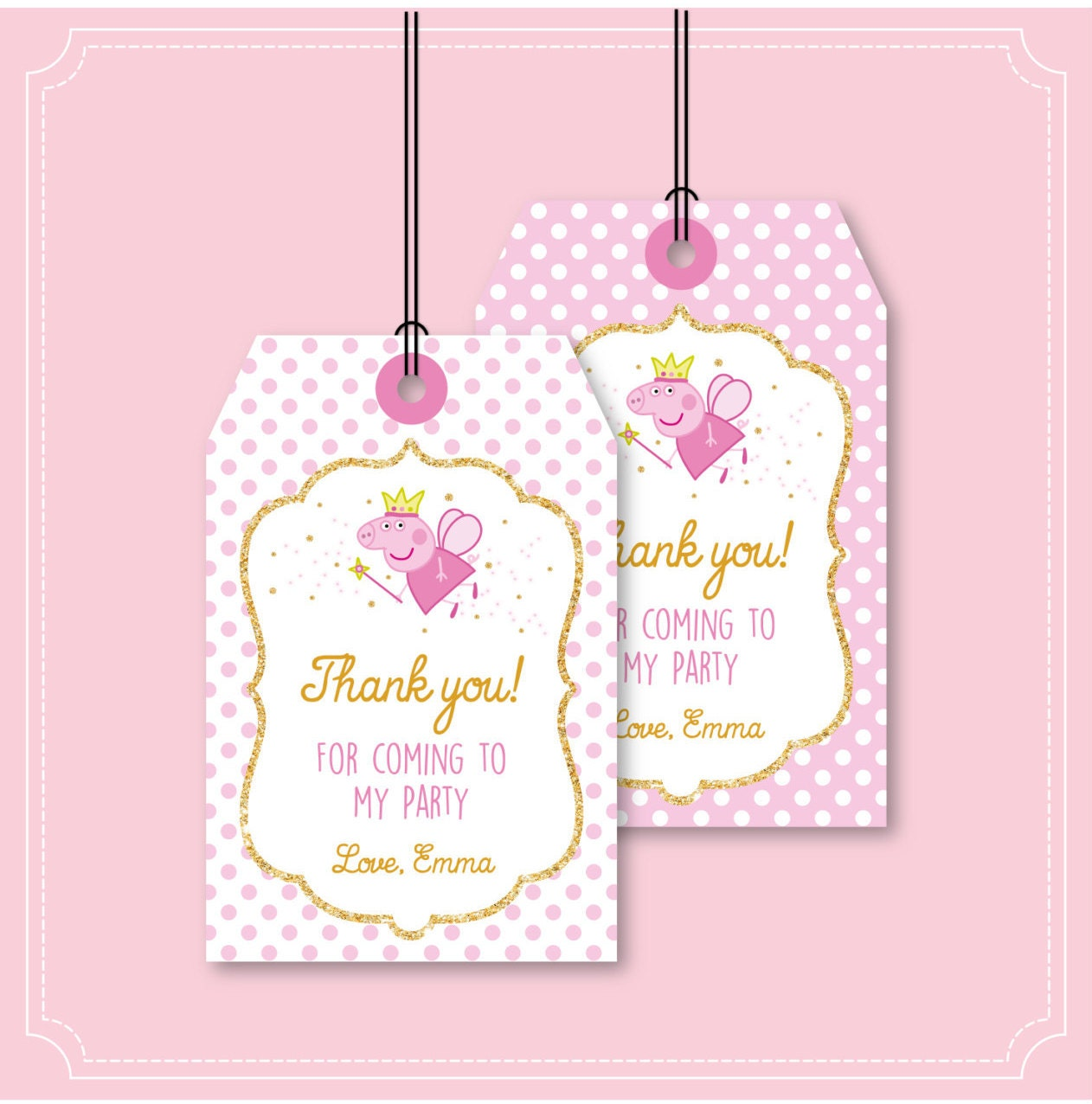 Peppa Pig Thank you Card an Tag - Peppa Pig Thank You Note and Tags ...
