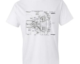 Mercury Spacecraft Blueprint T Shirt - Patent Shirt, Space T-Shirt, Mercury Shirt, Spacecraft T-Shirt, Astronaut shirt, Rocket T-Shirt