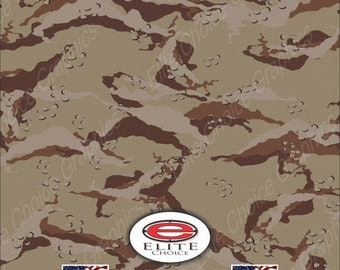 "Desert 2 15""x52"" or 24""x52"" Truck/Pattern Print Tree Real Camouflage Sticker Roll or Sheet"