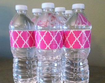 Adhesive Water Bottle Labels