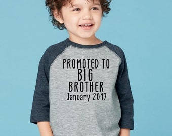 Promoted to big brother, Kids clothing, Toddler shirt, Pregnancy announcement shirt, Pregnancy reveal shirt