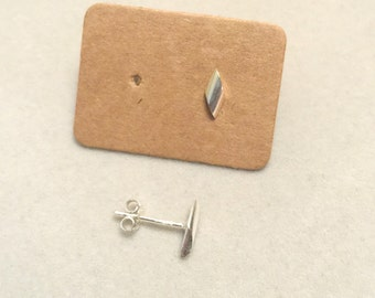 Silver Earrings, 925 Tiny earrings, Square Studs, Sterling Silver