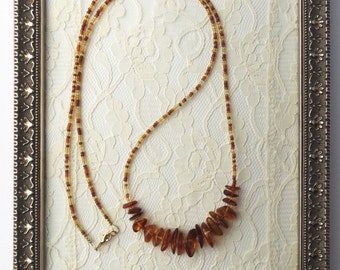 Baltic Amber and Czech Beads Necklace