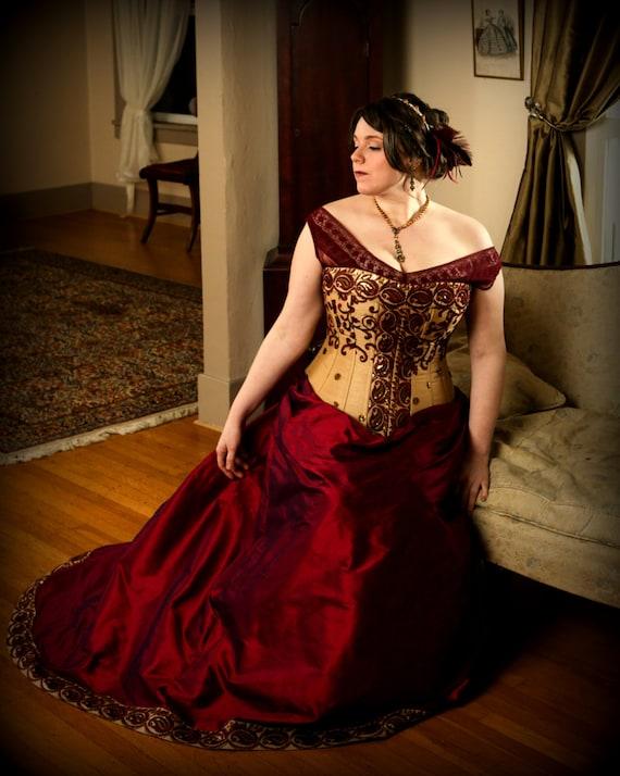 Plus size wedding corset gown curvy bridal hourglass full for Wedding dress for plus size hourglass